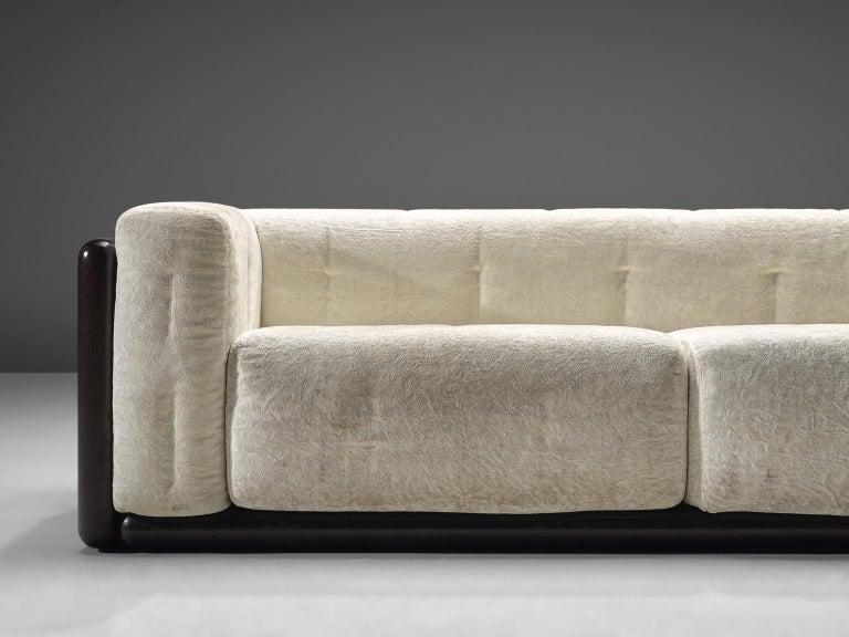 Carlo Scarpa 'Cornaro' Sofa for Simon in White Velvet For Sale 1