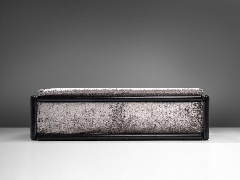 Mid-Century Modern Carlo Scarpa 'Cornaro' Sofa in Metallic Velvet