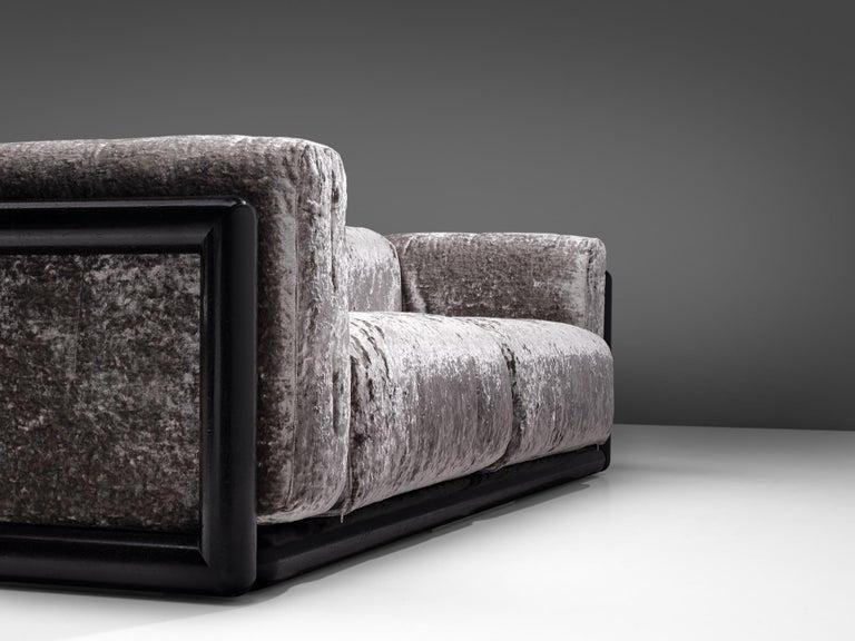 Italian Carlo Scarpa 'Cornaro' Sofa in Metallic Velvet
