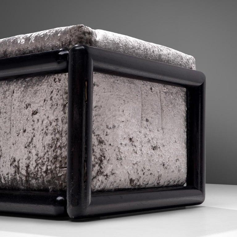 Late 20th Century Carlo Scarpa 'Cornaro' Sofa in Metallic Velvet
