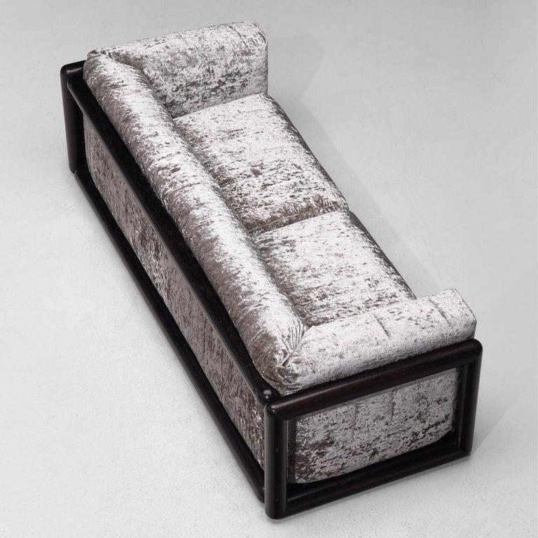 Carlo Scarpa 'Cornaro' Sofa in Metallic Velvet 2
