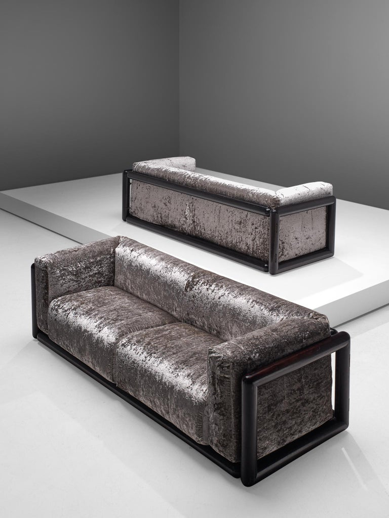 Mid-Century Modern Carlo Scarpa 'Cornaro' Sofas for Simon, 1973 For Sale