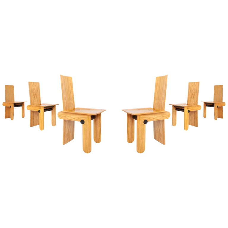 Mid-Century Modern Carlo Scarpa Dining Chairs for Gavina 1974 For Sale