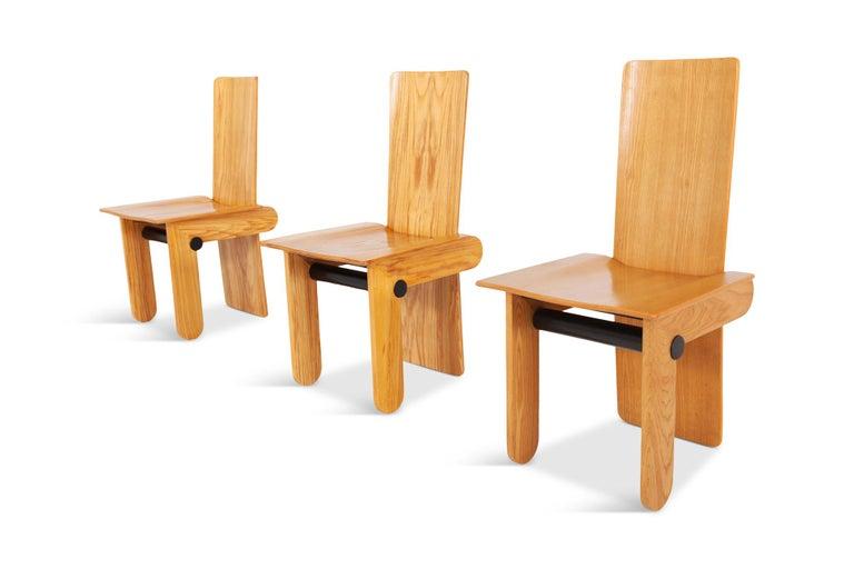 Italian Carlo Scarpa Dining Chairs for Gavina 1974 For Sale