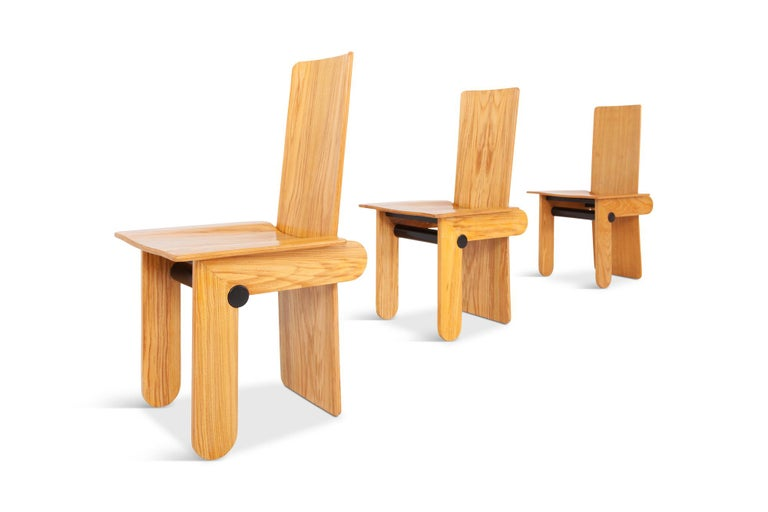 Late 20th Century Carlo Scarpa Dining Chairs for Gavina 1974 For Sale