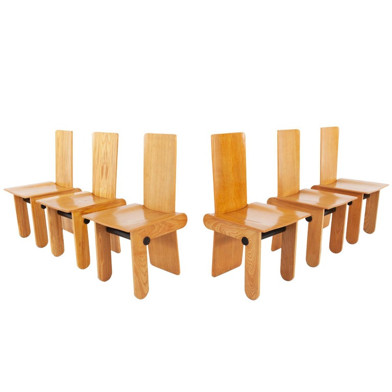 Carlo Scarpa Dining Chairs for Gavina 1974 For Sale