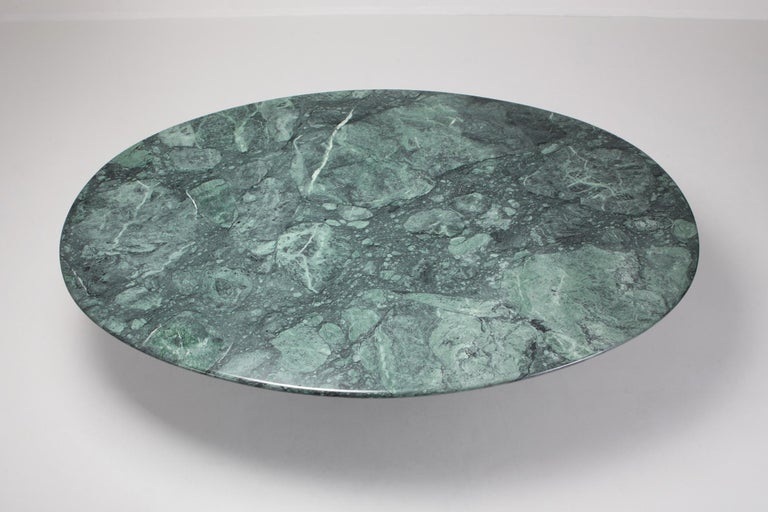Carlo Scarpa Dining Table 'Samo' in a Rare Green Marble For Sale 4
