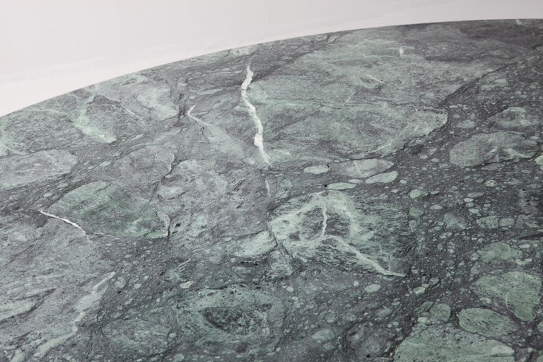 20th Century Carlo Scarpa Dining Table 'Samo' in a Rare Green Marble For Sale