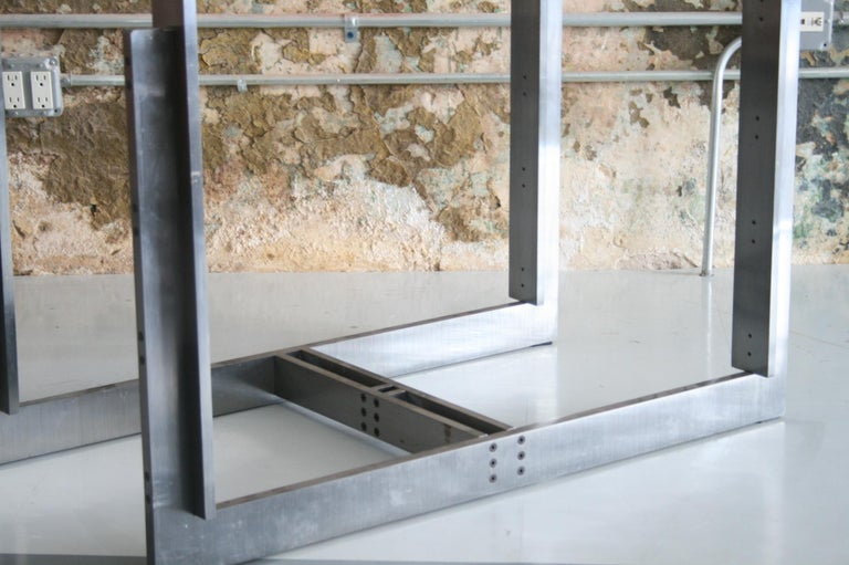Stainless Steel Carlo Scarpa Doge Dining Table for Simon Gavina For Sale