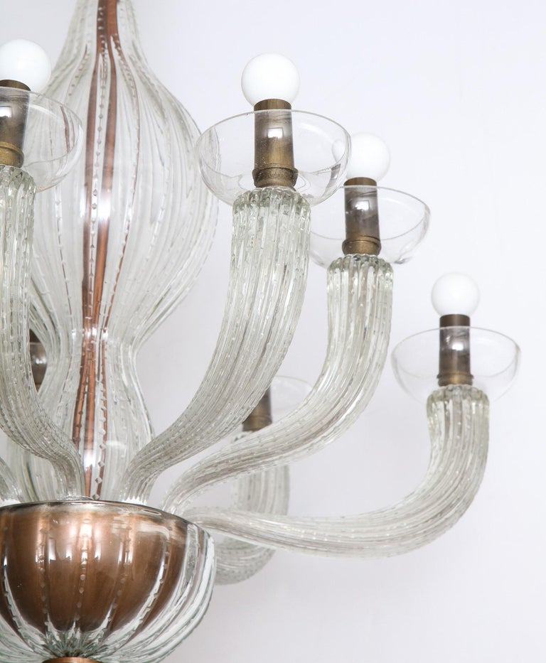 Mid-Century Modern Carlo Scarpa for Venini Chandelier For Sale