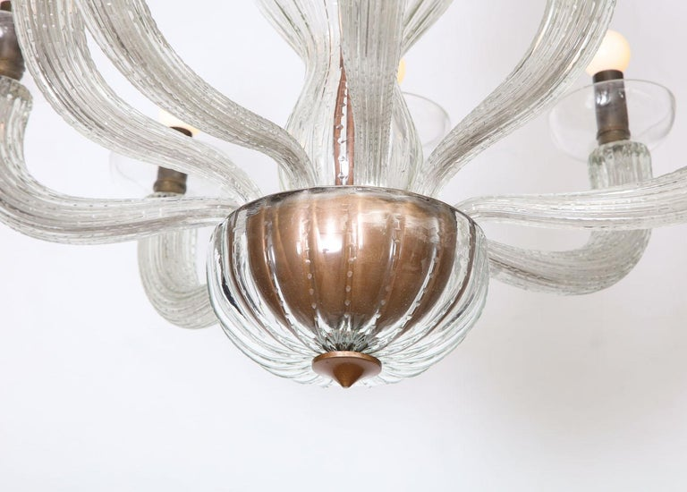Carlo Scarpa for Venini Chandelier In Good Condition For Sale In New York, NY
