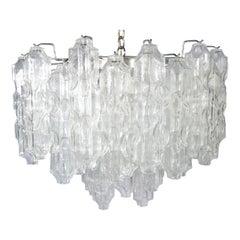 Carlo Scarpa for Venini Murano Chandelier Having 54 Murano Glass Globes