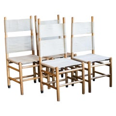 "Carlo Scarpa ""Kentucky"" Dining Chair Set, Italy, 1970s"
