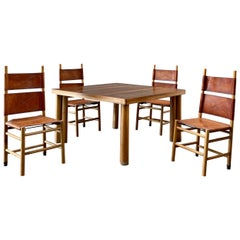 "Carlo Scarpa ""Kentucky"" Dining Set for Bernini, 1977"