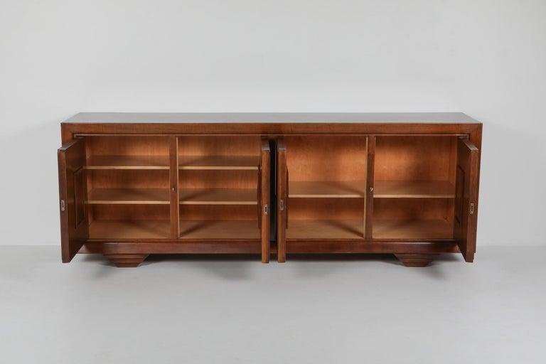 Carlo Scarpa masterpiece credenza in walnut, Italy 1960s For Sale 1