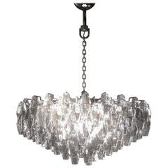 Carlo Scarpa Poliedri Applique Chandelier for Venini
