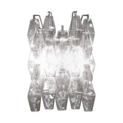 Carlo Scarpa Poliedri Applique Wall Sconce for Venini