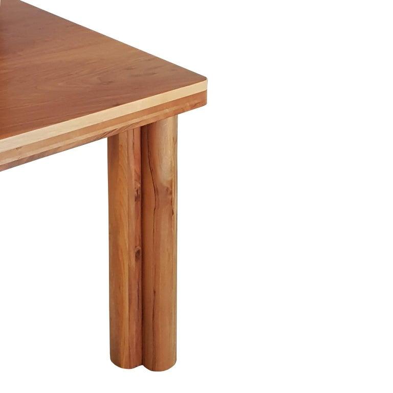 Carlo Scarpa Signed Large Natural Walnut Italian Table, Bernini, circa 1977 In Excellent Condition For Sale In Mornico al Serio ( BG), Lombardia
