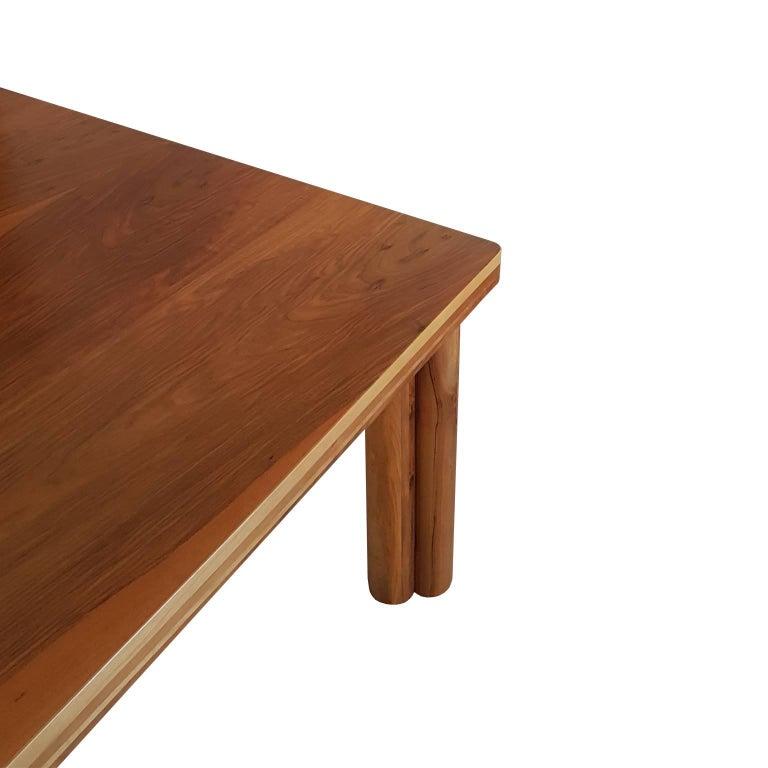 Late 20th Century Carlo Scarpa Signed Large Natural Walnut Italian Table, Bernini, circa 1977 For Sale