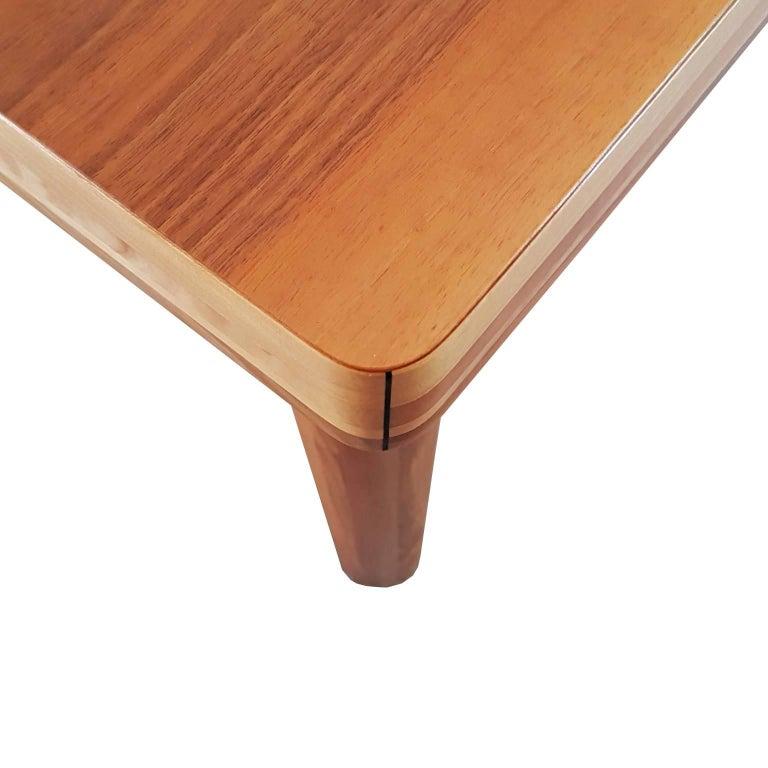 Carlo Scarpa Signed Large Natural Walnut Italian Table, Bernini, circa 1977 For Sale 1