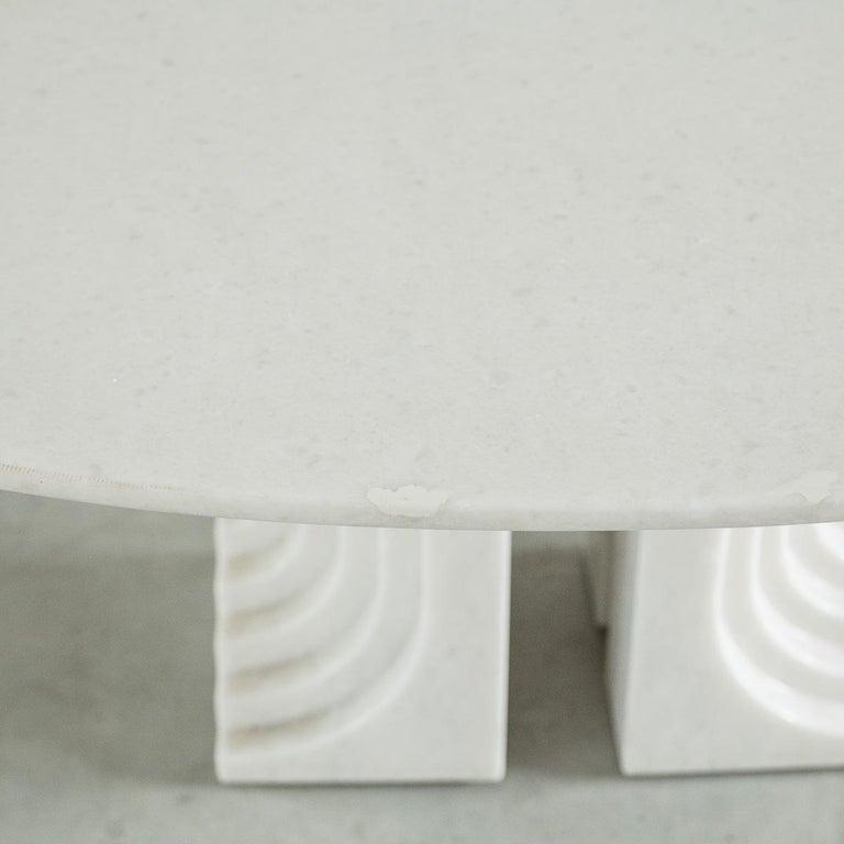 Carlo Scarpa White Naxos Marble Samo Table for Simon, Italy, 1970 For Sale 4