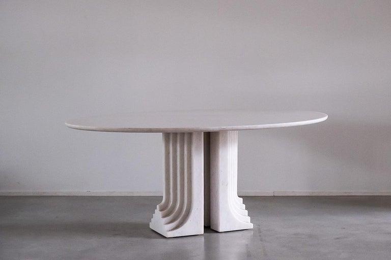 Italian Carlo Scarpa White Naxos Marble Samo Table for Simon, Italy, 1970 For Sale