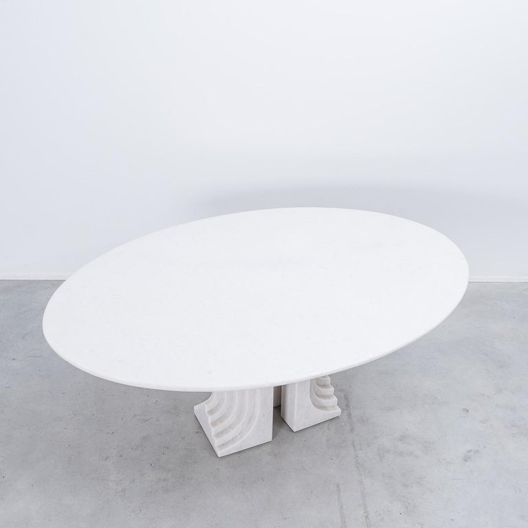 Carlo Scarpa White Naxos Marble Samo Table for Simon, Italy, 1970 In Good Condition For Sale In London, GB