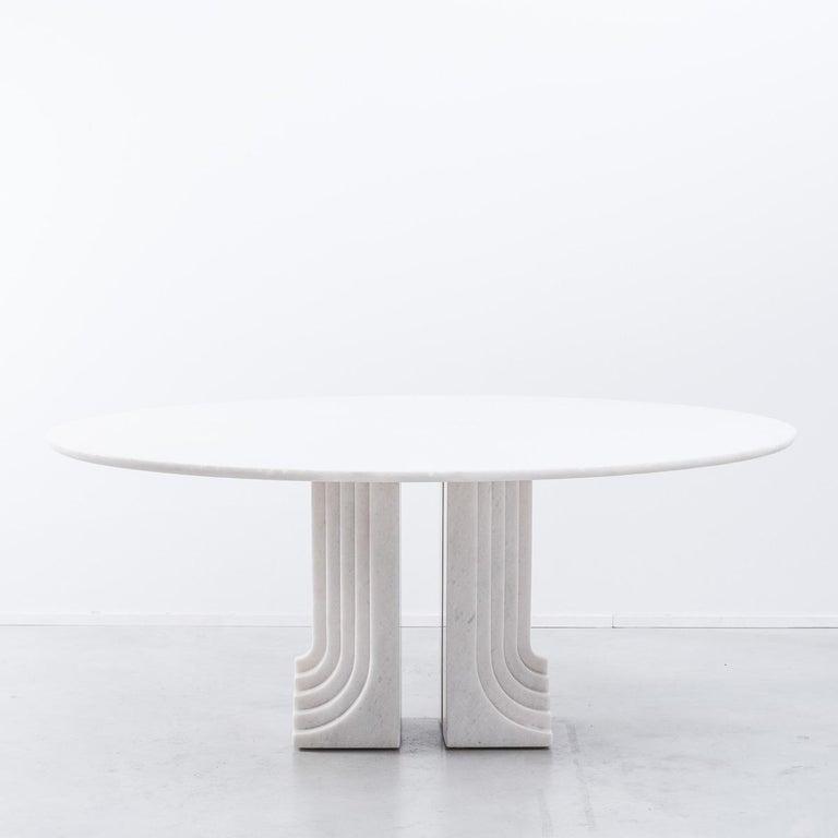 Late 20th Century Carlo Scarpa White Naxos Marble Samo Table for Simon, Italy, 1970 For Sale
