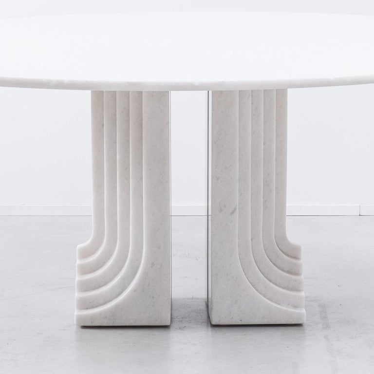 Carlo Scarpa White Naxos Marble Samo Table for Simon, Italy, 1970 For Sale 1