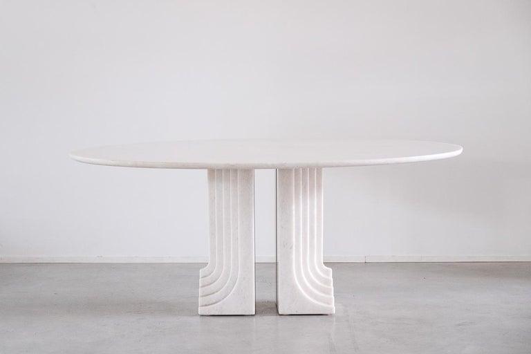 Carlo Scarpa White Naxos Marble Samo Table for Simon, Italy, 1970 For Sale 2