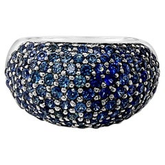 Carlo Viani Ring Featuring Blueberry Sapphire Set in 14 Karat Vanilla Gold