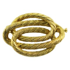 Carlo Weingrill 18 Karat Gold Winding Rope Pin
