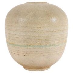 Carlo Zauli Gray Round Vase in Stoneware, 1960s