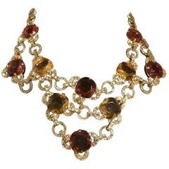 Carlo Zini Amber & Topaze Necklace
