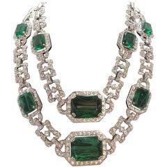 Carlo Zini Emerald Collier