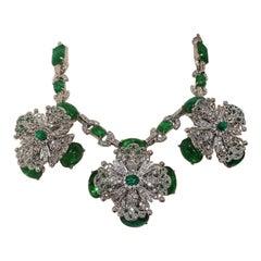Carlo Zini Emerald  Necklace