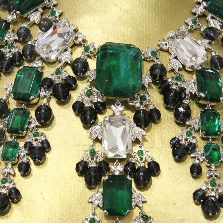 Carlo Zini Emeralds Maxi Collier In New Condition For Sale In Gazzaniga (BG), IT