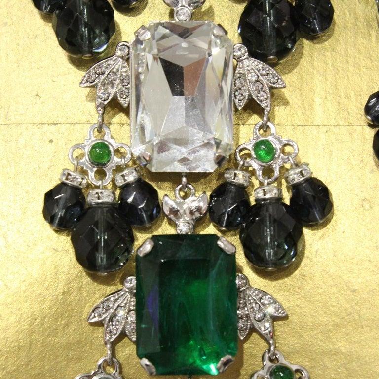 Women's Carlo Zini Emeralds Maxi Collier For Sale