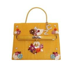 Carlo Zini Floral Jewel Bag