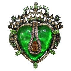 Carlo Zini Green Heart Bracelet