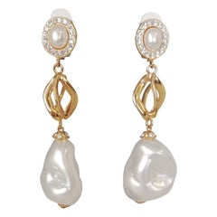 Carlo Zini Milano Baroque Pearl Earrings