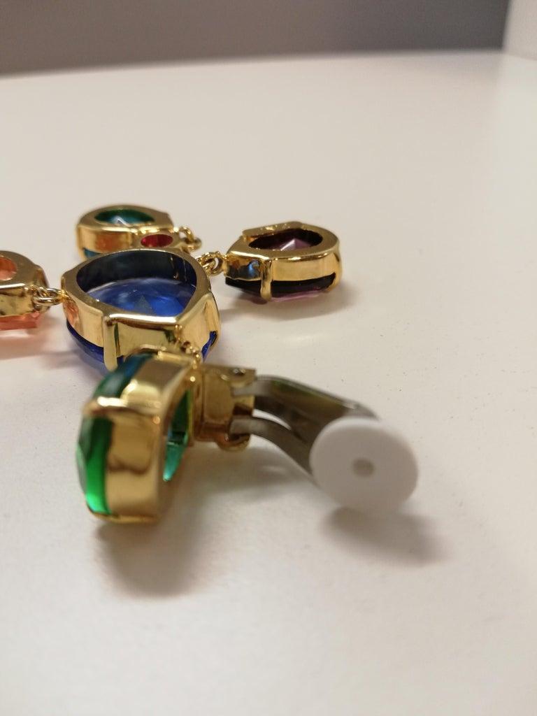 Carlo Zini Milano Crystal Earrings For Sale 1