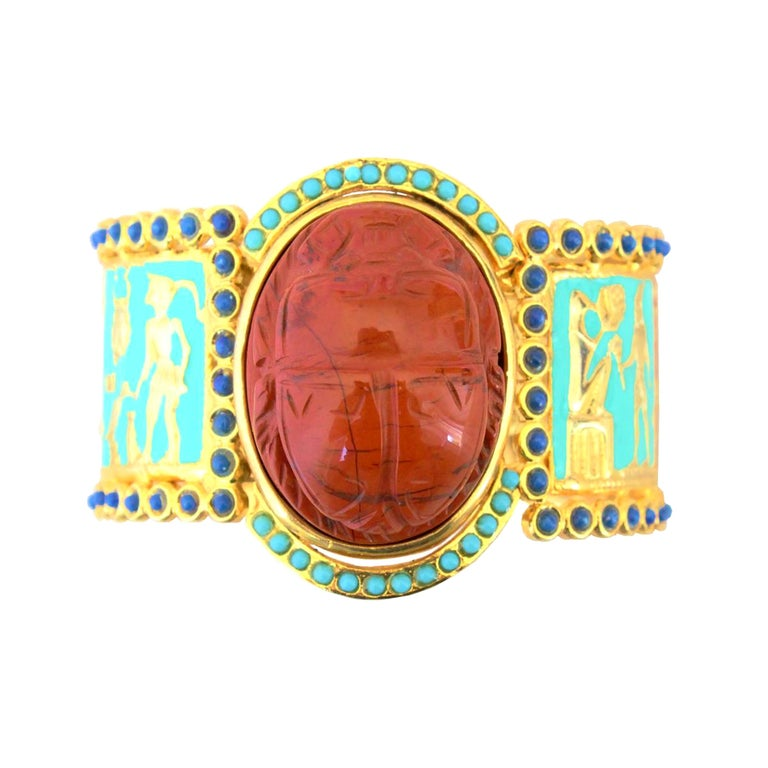 Carlo Zini Milano Egyptian Bracelet For Sale