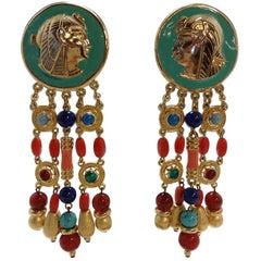 Carlo Zini Milano Egyptian Earrings