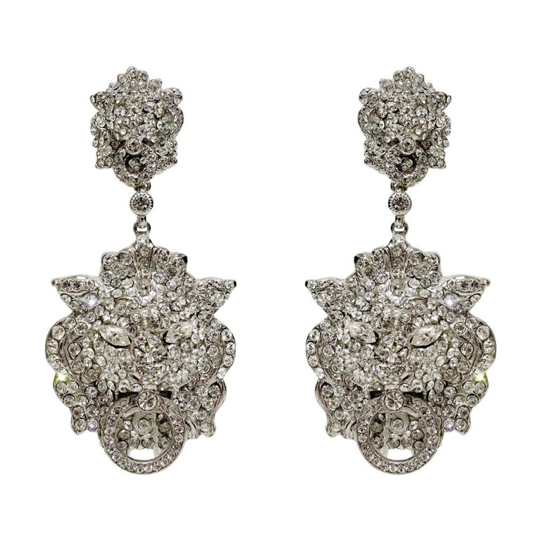 Carlo Zini Milano Lions Earrings For Sale