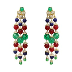 Carlo Zini Milano Multicolored Boules Earrings