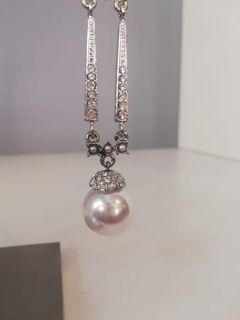 Mixed Cut Carlo Zini Milano Pearl Earrings For Sale
