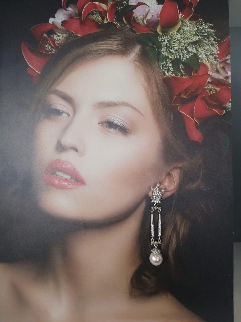 Carlo Zini Milano Pearl Earrings In New Condition For Sale In Gazzaniga (BG), IT