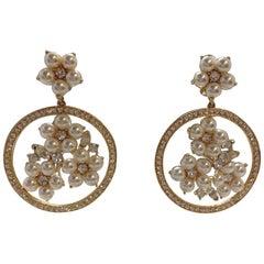Carlo Zini Milano Pearl Earrings