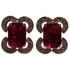 Carlo Zini Milano Ruby Déco Earrings
